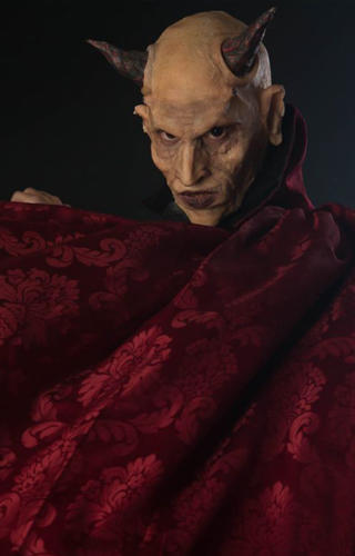 Devil - silicon prosthetic makeup