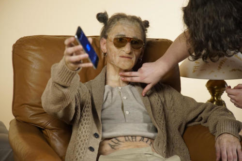 Aging for Warner Music Italy G.bit videoclip - silicon prosthetic makeup
